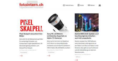 Fotointern.ch Bericht