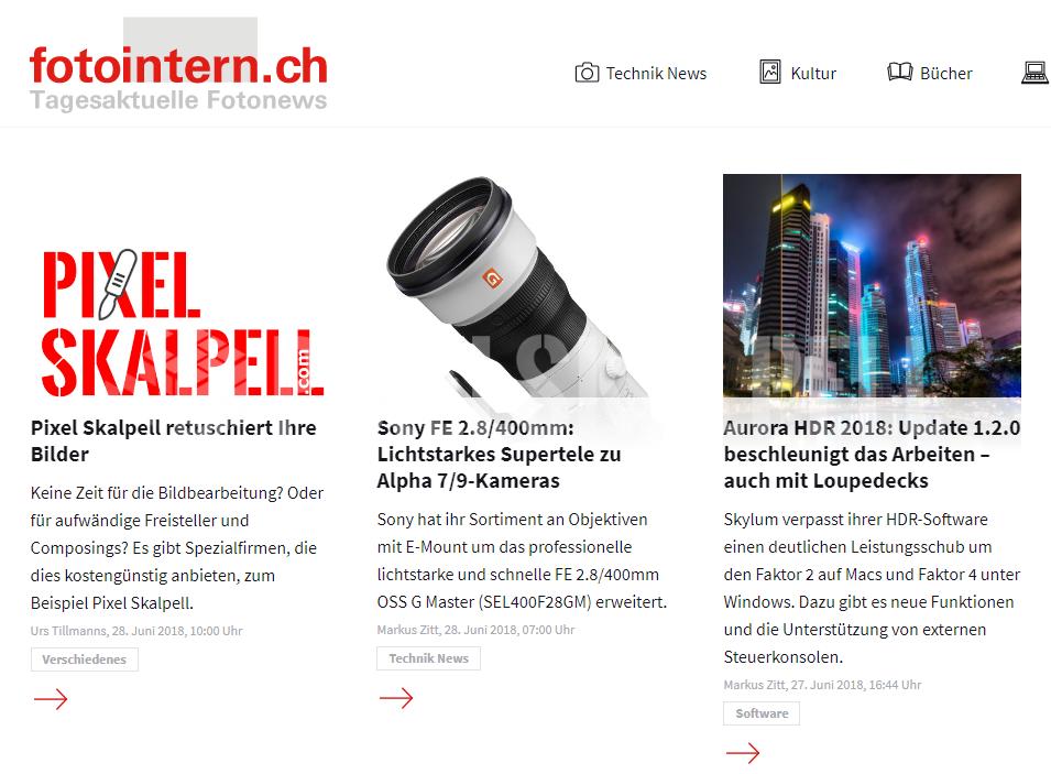 Empfohlen von fotointern.ch